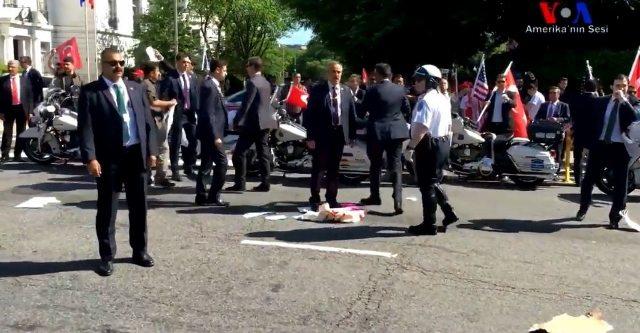 ABD polisi yetersiz kalınca devreye Erdoğan korumaları girdi