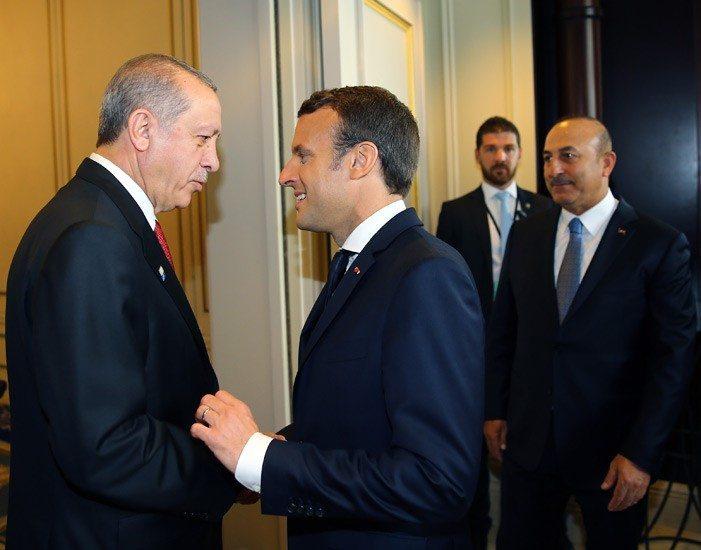 erdoğan macron çavuşoğlu