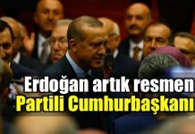 Erdoğan artık resmen partili cumhurbaşkanı akp ak parti üye