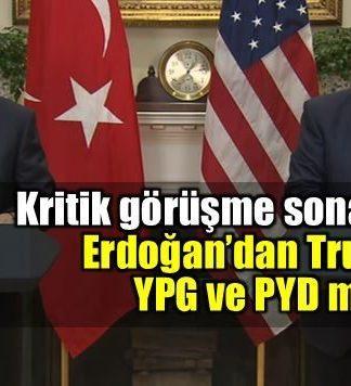 Erdoğan Trump görüşmesi gerçekleşti