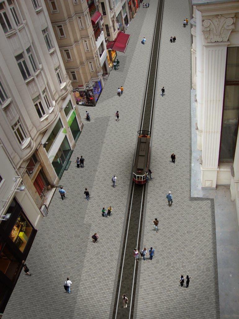 İstiklal Caddesi tamamlandığında böyle olacak! istiklal caddesi