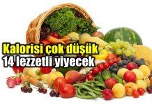 Düşük kalorili yiyecekler listesi: Kalorisi düşük 14 besin