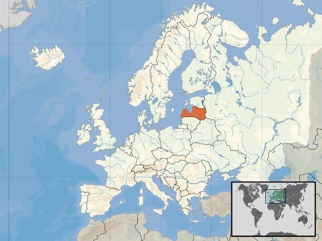 letonya haritası avrupa