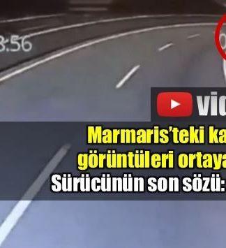 Muğla Marmaris karayaolu Sakar Geçidi'nde uçurumdan devrilen minibüsün, kazadan saniyeler önce kaydedilen görüntüleri ortaya çıktı.