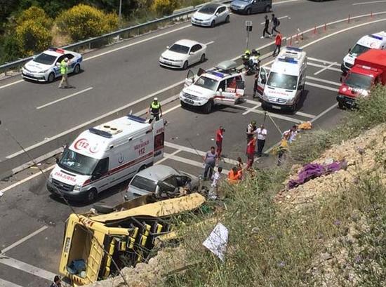 marmaris sakar midibüs kazası araç muayenesi