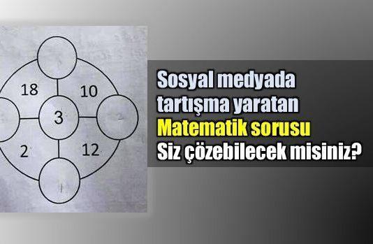 Singapur'da 7 yaşındaki çocuklara sorulduğu iddia edilen matematik sorusu yetişkinleri şaşkına çevirdi. Bakalım siz çözebilecek misiniz...