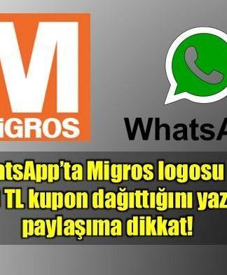 Migros logosu ile WhatsApp'ta dolandırıcılığa dikkat!