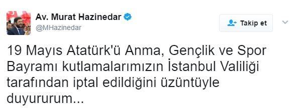 Murat Haznedar'dan açıklama