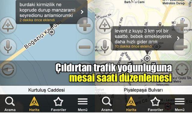 Çıldırtan trafik yoğunluğuna mesai saatleri düzenlemesi