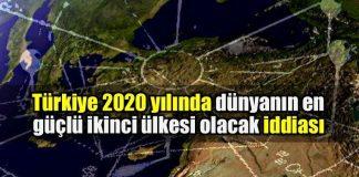 Türkiye 2020 yılında dünyanın en güçlü ikinci ülkesi olacak iddiası