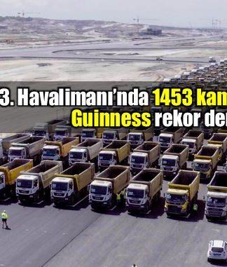 Yeni Havalimanında 1453 kamyon ile geçiş yapıldı