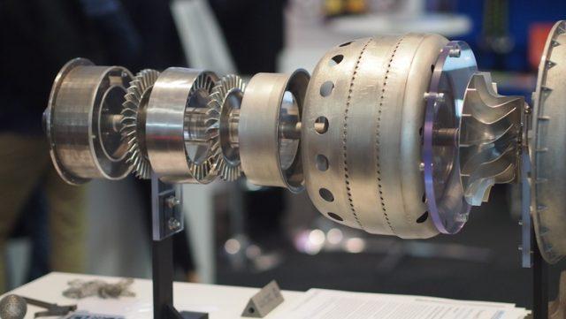 3DP ile üretilmiş Minyatür Jet Motoru