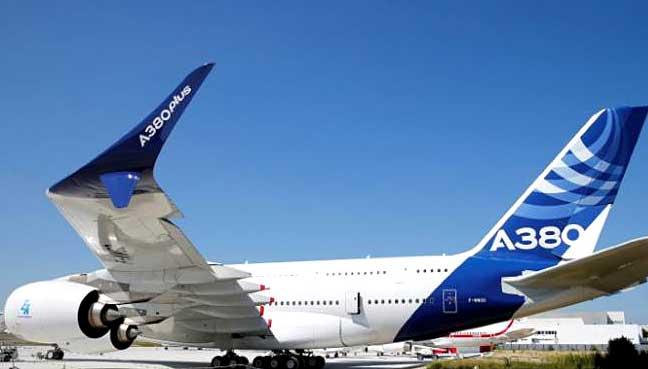 dünyanın en büyük yolcu uçağı Airbus A380 Plus 23 Haziran'da Paris Air Show
