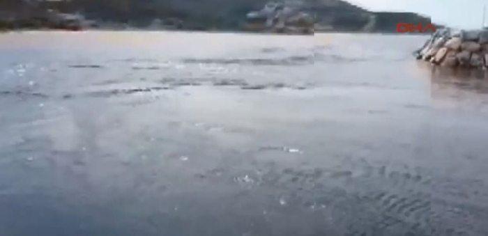 depremden sonra denizin suların çekilmesi tsunami izmir karaburun midilli