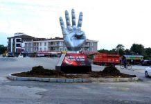 Düzce'ye Rabia heykeli konuldu