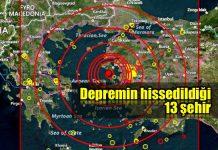 Ege'de 6.3 şiddetinde deprem 13 şehirde hissedildi!