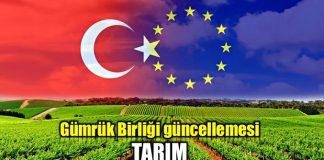 Gümrük Birliği güncellemesi ile tarım ürünlerinin dahil edilmesi