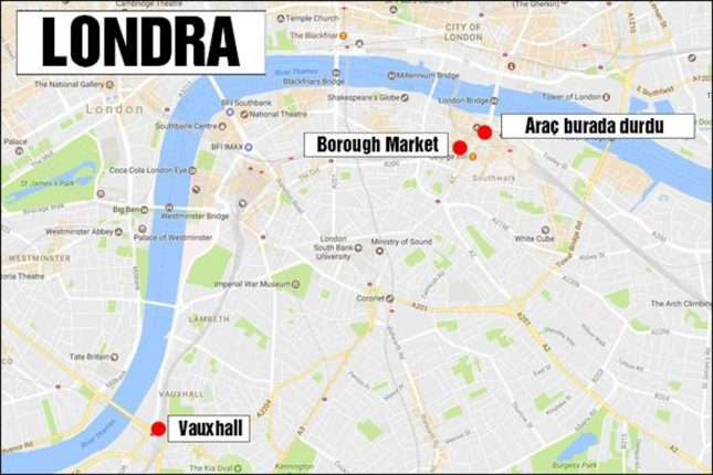 London Bridge saldırısında 7 kişi öldü, 3 zanlı öldürüldü