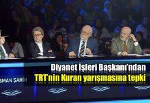 Mehmet Görmez'den TRT'nin Kuran yarışmasına sert eleştiri