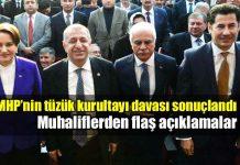 MHP'nin tüzük kurultayı davasında mahkeme kararları iptal etti. Meral Akşener, Sinan Oğan, Ümit Özdağ ve Koray Aydın'dan flaş açıklamalar...
