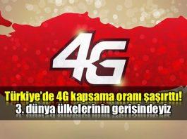 Türkiye'de 4G kapsama oranı şaşırttı!