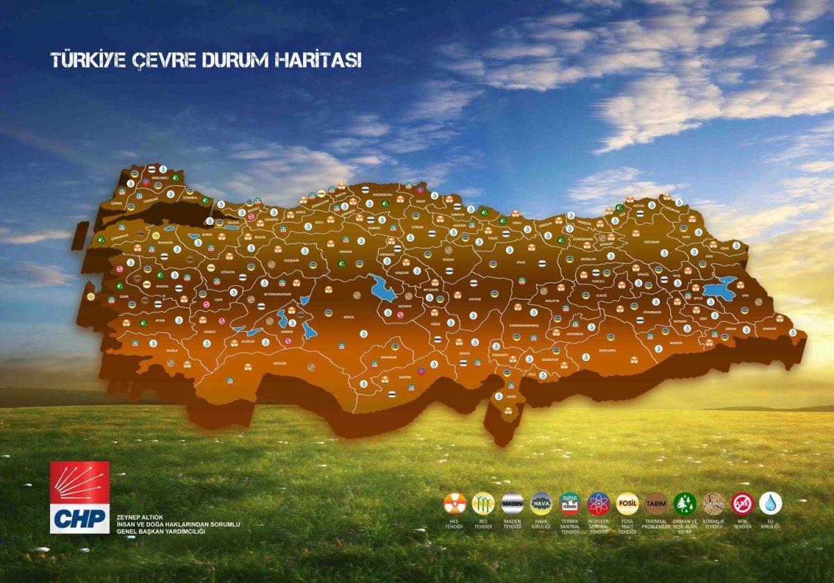 türkiye çevre durumu haritası chp