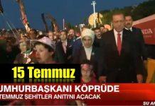15 Temmuz: Cumhurbaşkanı Erdoğan köprüye yürüyor