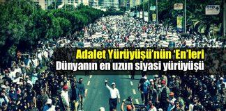 Adalet Yürüyüşü: Dünyanın en uzun siyasi yürüyüşü rekoru kemal kılıçdaroğlu