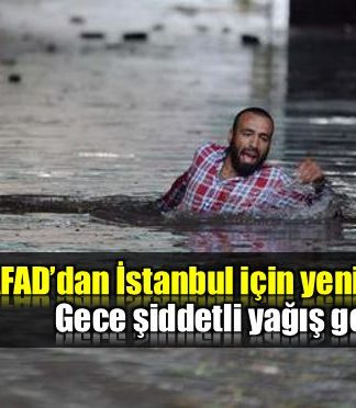 AFAD istanbul için şiddetli yağış uyarısı!
