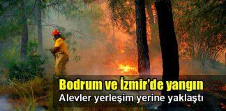 Bodrum'da yangın: Yerleşim yerlerine yaklaşıyor!