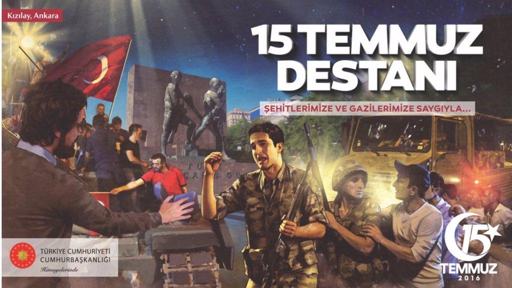 Kızılay Ankara - 15 Temmuz afişleri