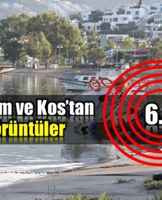 Bodrum ve Kos deprem ve tsunami sonrası şok görüntüler earthquake greece turkey