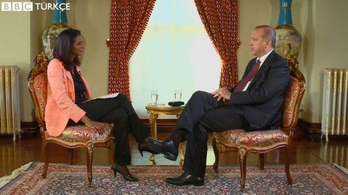 cumhurbaşkanı recep tayyip erdoğan bbc