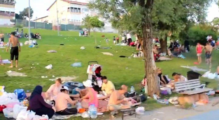 suriye mülteci kampı florya sahili