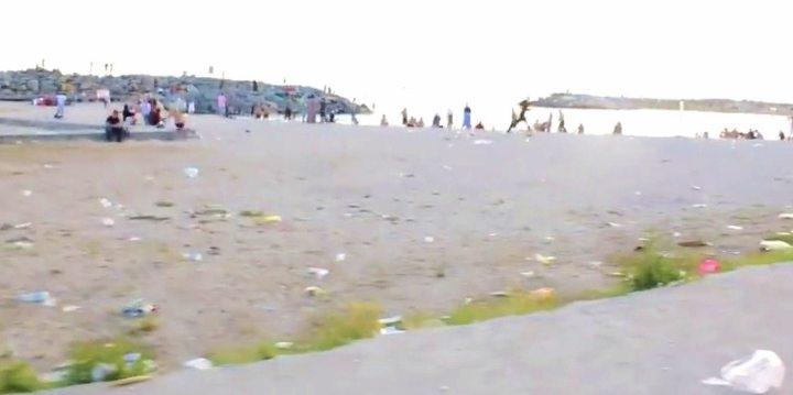 suriye mülteci kampı florya sahili pislik çöp