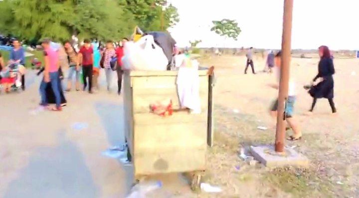 suriye mülteci kampı florya sahili çöp pislik