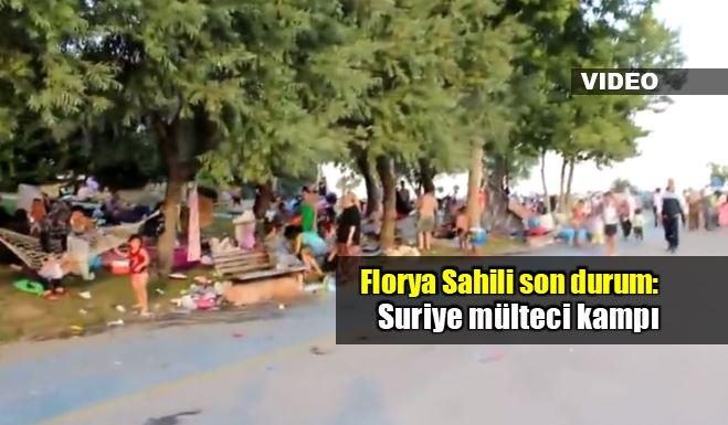 Florya sahili son durum: Suriye mülteci kampı