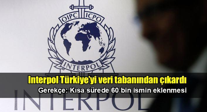 Interpol Türkiye'yi veri tabanından çıkardı