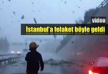 İstanbul sel felaket böyle geldi: Hava böyle karardı!