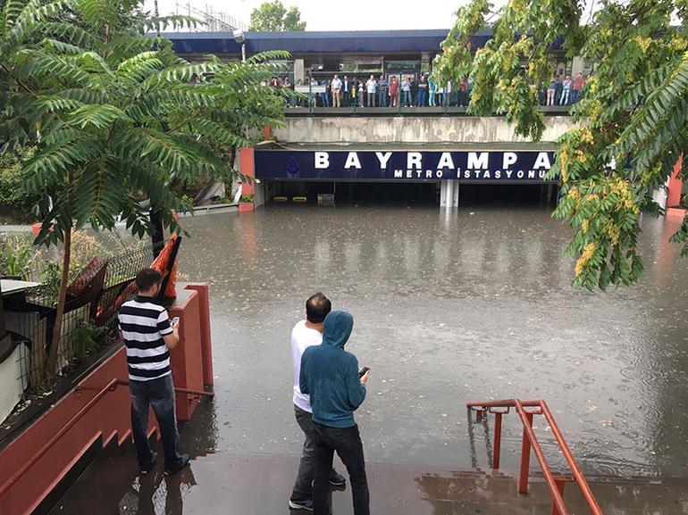 istanbul sel yağmur yağış sağanak