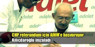 Kılıçdaroğlu canlı yayında AİHM'e başvuru dilekçesini imzaladı