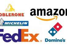 Logoların ilginç hikayeleri amazon fedex toblerone michelin dominos