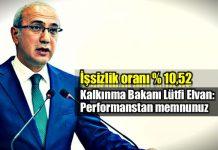 Lütfi Elvan: İşsizlik yüzde 1,2 azaldı performanstan memnunuz