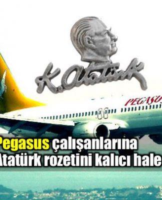 Pegasus çalışanlarına Atatürk rozeti takmayı zorunlu hale getirdi