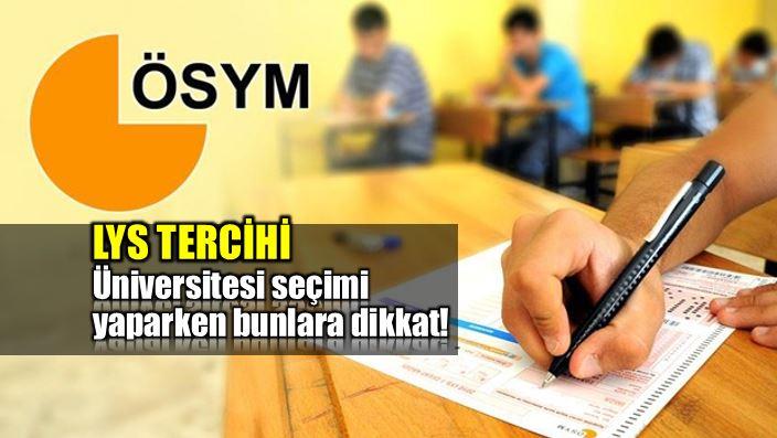 Üniversite (LYS) tercihi yaparken bunlara dikkat!