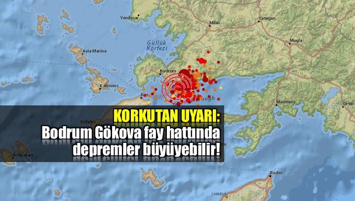 Bodrum Gökova fay hattında depremler büyüyebilir!