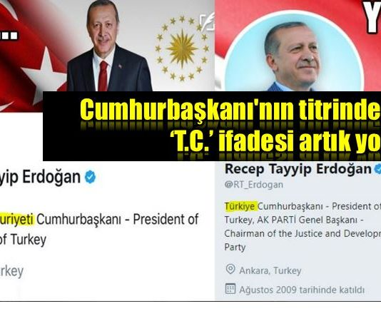 Cumhurbaşkanı titrii TC ifadesi artık yok!