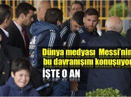Video: Dünya Messi bu davranışını konuşuyor