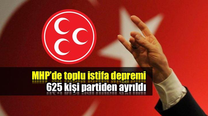 MHP'de toplu istifa depremi: 625 üye partiyi bıraktı