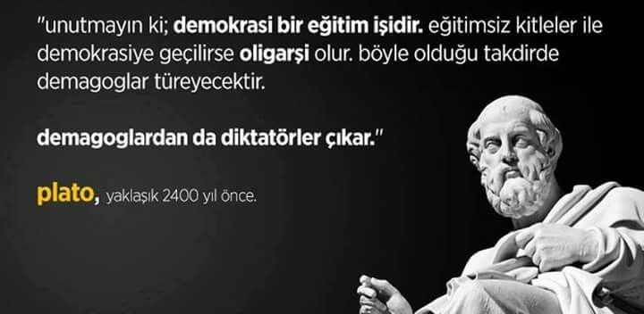 platon demokrasi nedir oligarşi diktatörlük